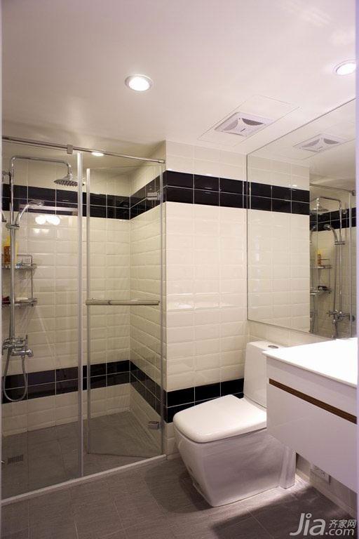 简约风格公寓富裕型100平米卫生间二手房台湾家居