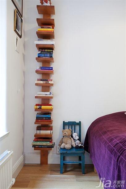 北欧风格复式经济型70平米卧室床海外家居