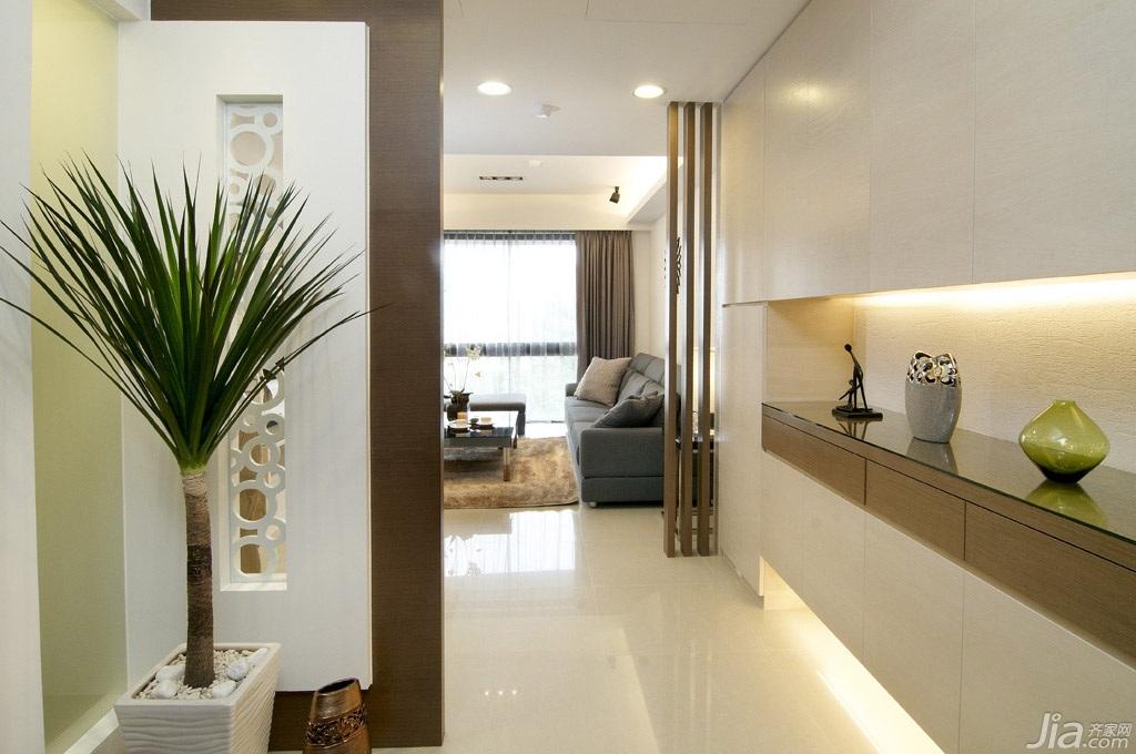 简约风格三居室经济型玄关隔断玄关柜台湾家居