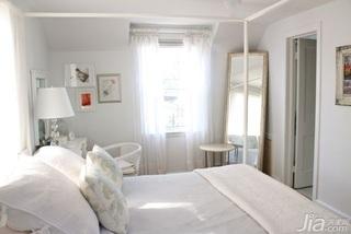 简约风格别墅白色经济型100平米卧室床海外家居