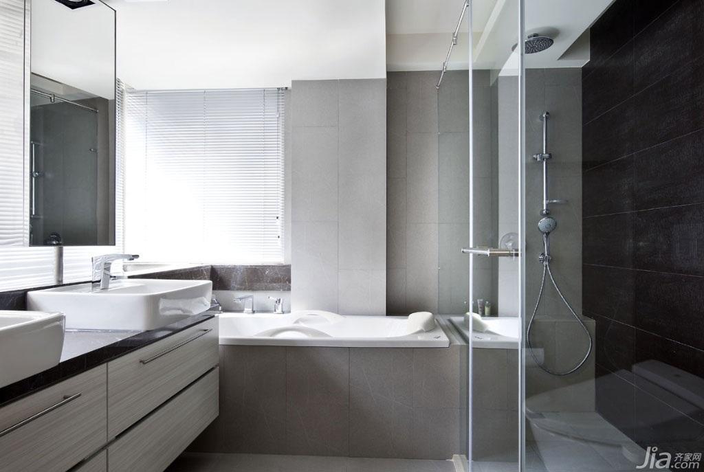 简约风格公寓富裕型卫生间二手房台湾家居