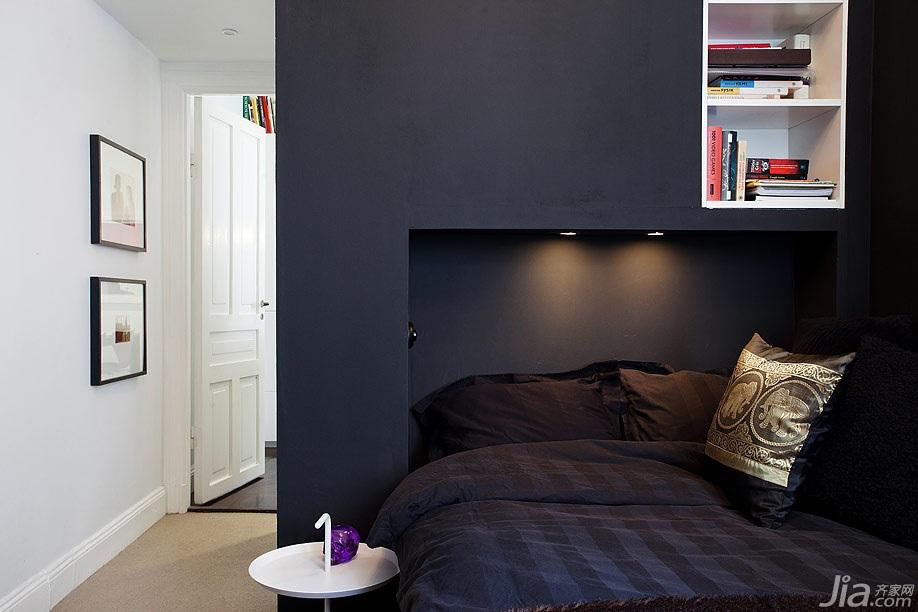 宜家风格复式黑色经济型60平米儿童房床图片