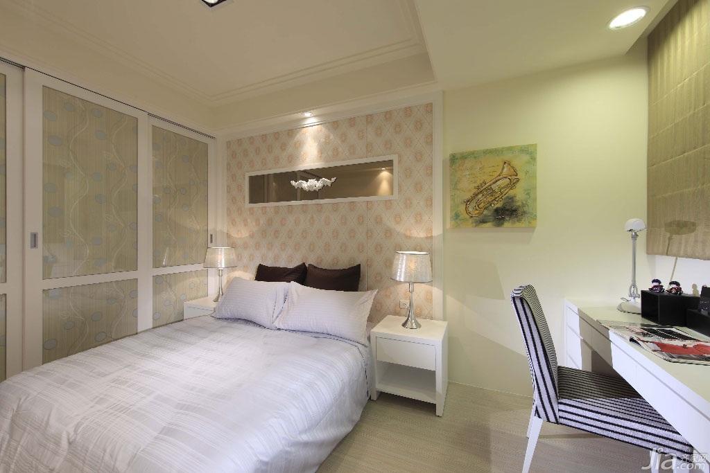新古典风格公寓140平米以上卧室壁纸台湾家居