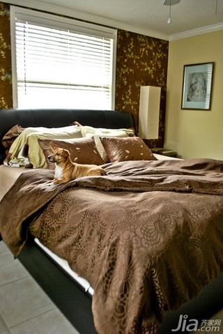混搭风格别墅经济型90平米卧室床海外家居