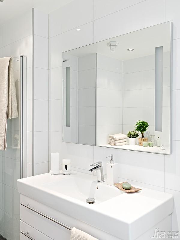 宜家风格小户型经济型60平米卫生间洗手台海外家居