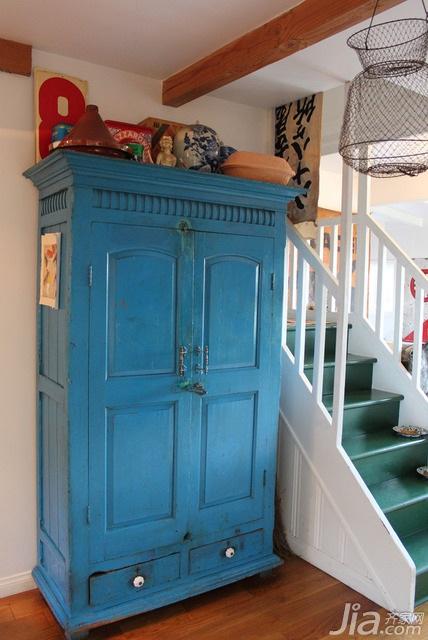 地中海风格别墅富裕型90平米楼梯衣柜海外家居