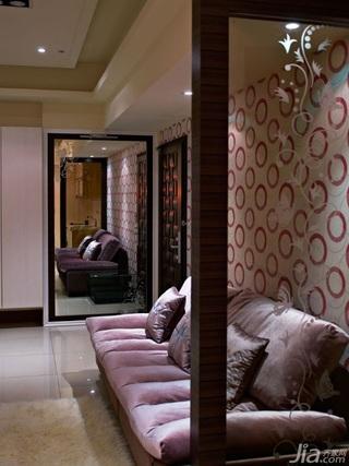 简约风格小户型富裕型客厅隔断沙发婚房平面图