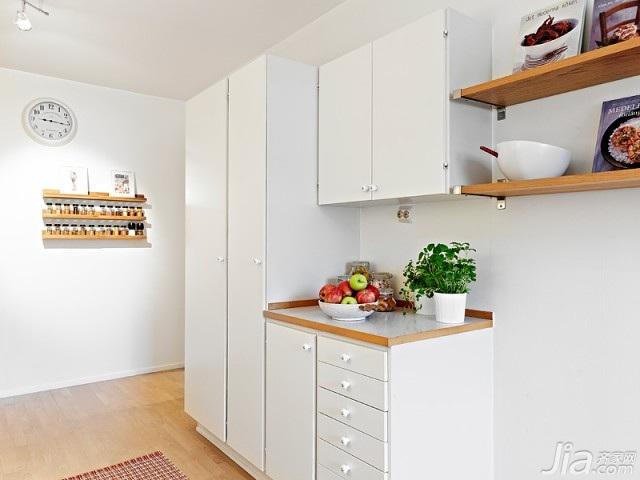 北欧风格小户型白色经济型70平米橱柜海外家居