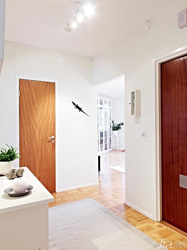 北欧风格小户型经济型70平米门厅海外家居