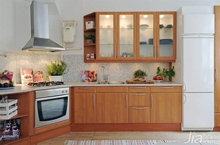 宜家风格小户型经济型厨房橱柜图片
