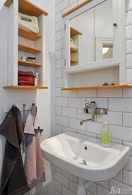 宜家风格小户型经济型卫生间浴室柜效果图高清图片
