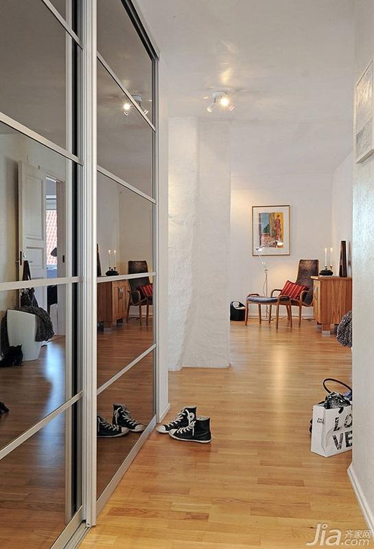 宜家风格二居室经济型门厅玄关柜效果图