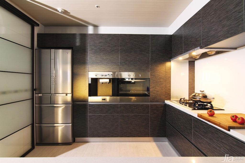 混搭风格公寓富裕型厨房台湾家居
