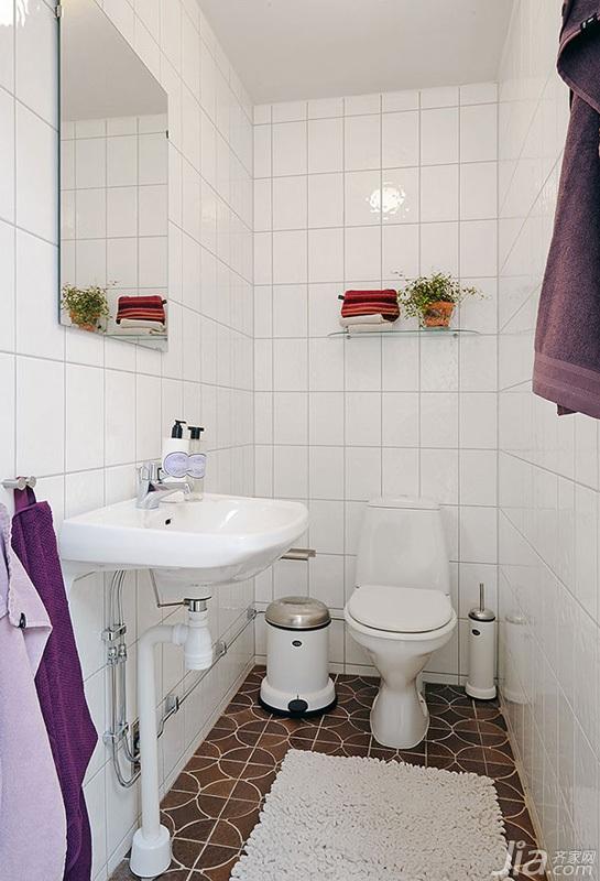 宜家风格三居室经济型110平米卫生间装修效果图