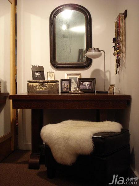 美式乡村风格别墅经济型70平米卧室梳妆台海外家居
