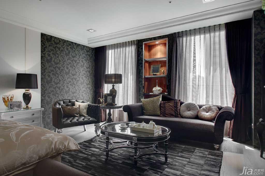 新古典风格公寓130平米书房窗帘台湾家居图片