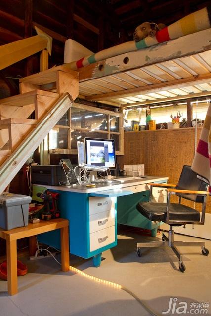 简约风格别墅经济型60平米书房楼梯书桌海外家居