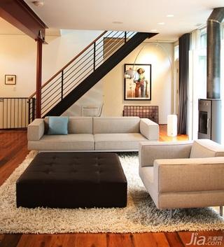 简约风格别墅经济型100平米客厅楼梯沙发海外家居