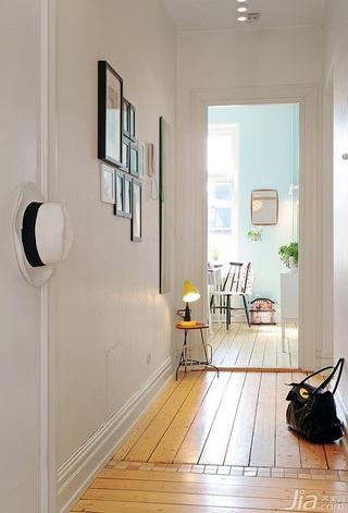 宜家风格小户型经济型60平米门厅照片墙效果图