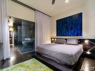 简约风格公寓经济型卧室隔断床效果图