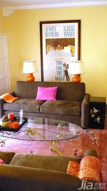 混搭风格小户型富裕型70平米客厅沙发海外家居