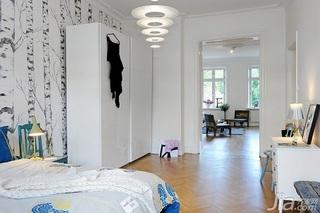 宜家风格四房经济型卧室衣柜设计图