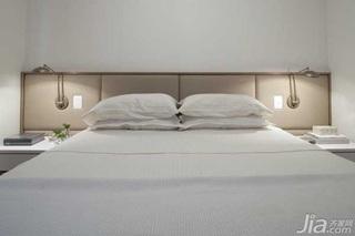 简约风格公寓白色富裕型90平米卧室床海外家居