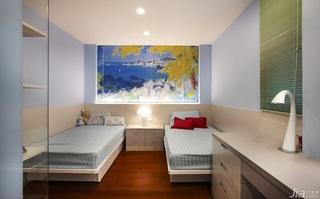 简约风格别墅富裕型140平米以上儿童房卧室背景墙儿童床台湾家居