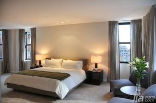 简约风格复式富裕型90平米卧室床海外家居