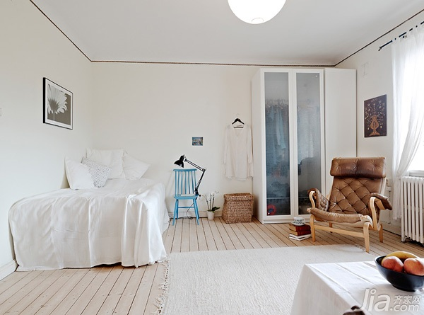 內置衣柜有玄妙 38平方清雅單身公寓