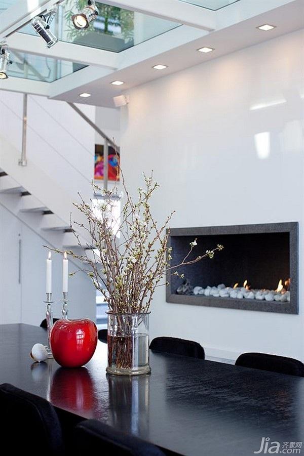 简约风格公寓经济型110平米餐厅楼梯餐桌海外家居