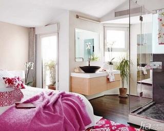 东南亚风格公寓经济型90平米卧室床海外家居
