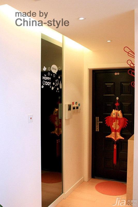 简约风格三居室富裕型100平米门厅装修图片