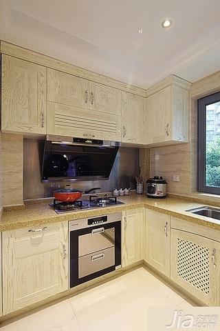 简约风格三居室20万以上110平米厨房橱柜安装图