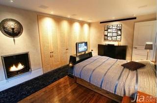 混搭风格别墅富裕型130平米卧室床海外家居