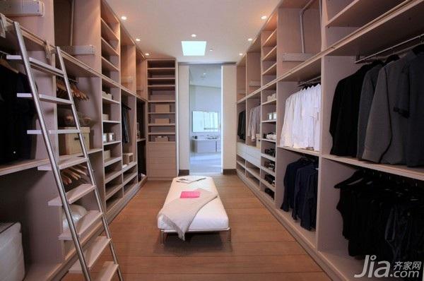 简约风格别墅富裕型140平米以上衣帽间衣柜海外家居
