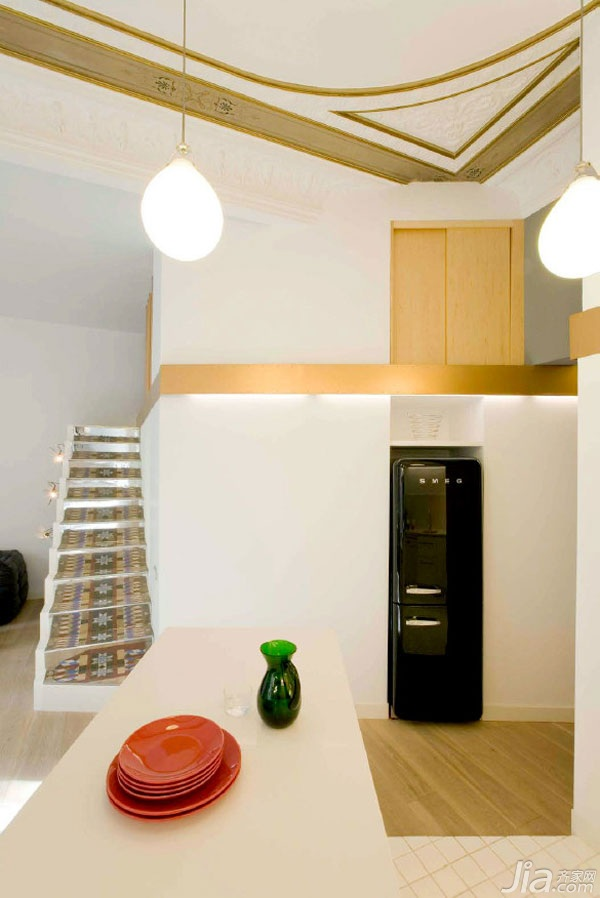 简约风格公寓经济型120平米厨房楼梯橱柜海外家居