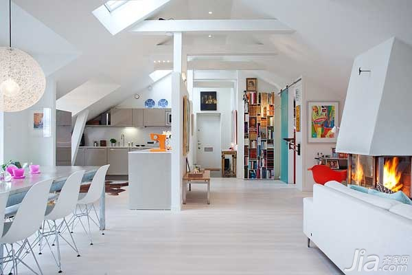 简约风格公寓富裕型120平米餐厅橱柜海外家居