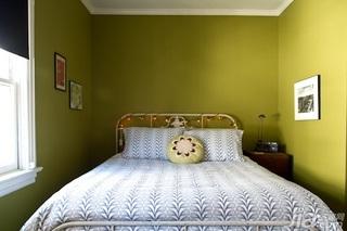 混搭风格别墅黄色富裕型130平米卧室床海外家居