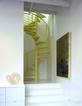 简约风格别墅黄色富裕型楼梯海外家居