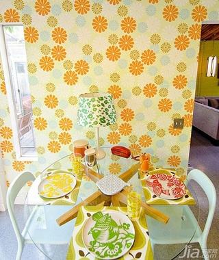 简约风格别墅黄色富裕型140平米以上餐厅餐桌海外家居