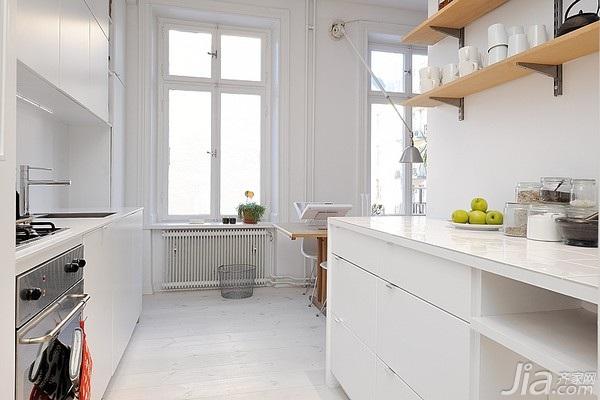 北欧风格小户型白色经济型40平米厨房橱柜海外家居