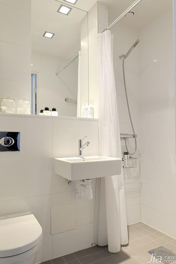 北欧风格小户型白色经济型40平米卫生间海外家居