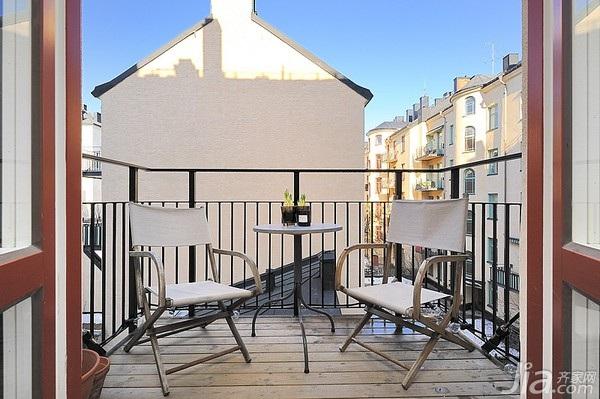 北欧风格小户型经济型40平米露台海外家居