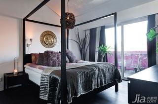 混搭风格公寓富裕型110平米卧室床海外家居
