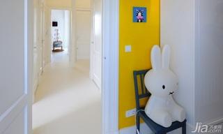 简约风格别墅可爱黄色富裕型过道设计图纸