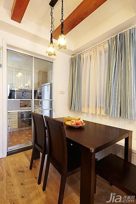 地中海风格二居室经济型餐厅餐桌效果图