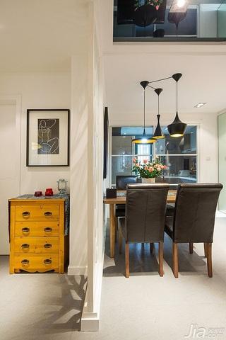 宜家风格二居室富裕型70平米餐厅装潢