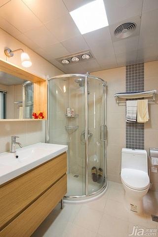 宜家风格二居室富裕型70平米卫生间吊顶洗手台效果图