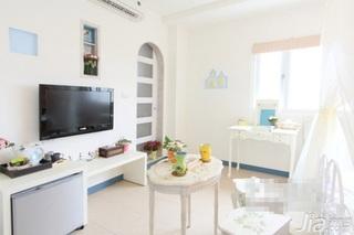 混搭风格公寓白色经济型50平米卧室电视柜效果图